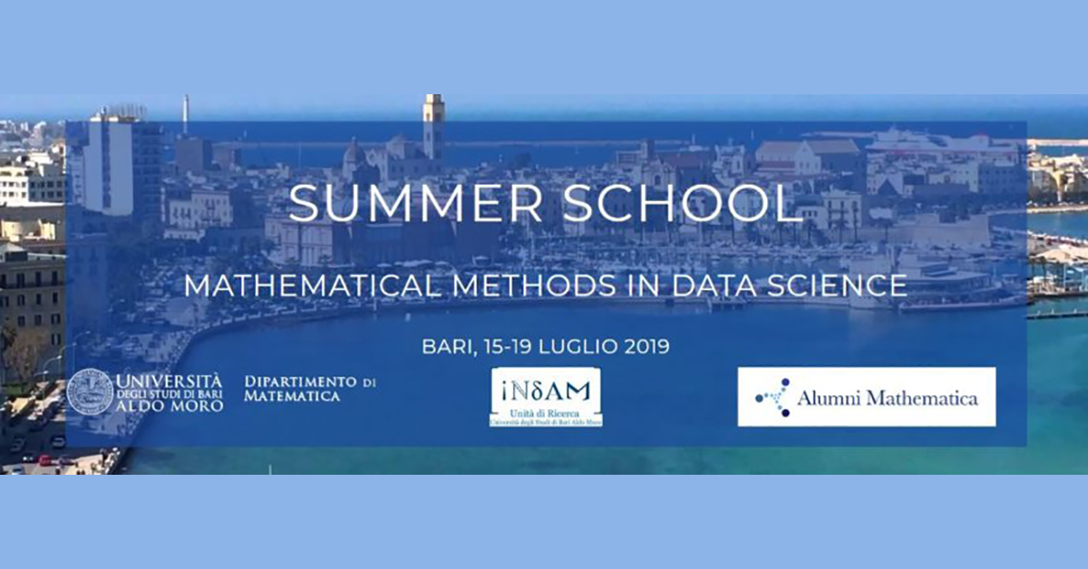 "Fincons Group è sponsor della Summer School ""Mathematical Methods in Data Science"""